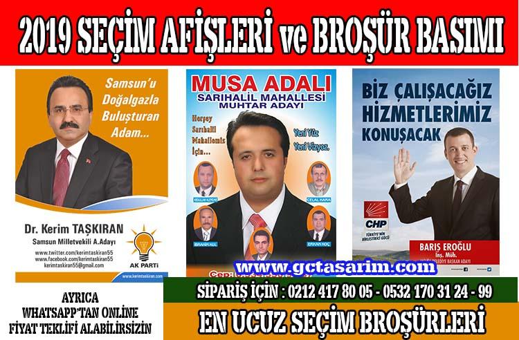 2019 Seçim Afişleri Basımı