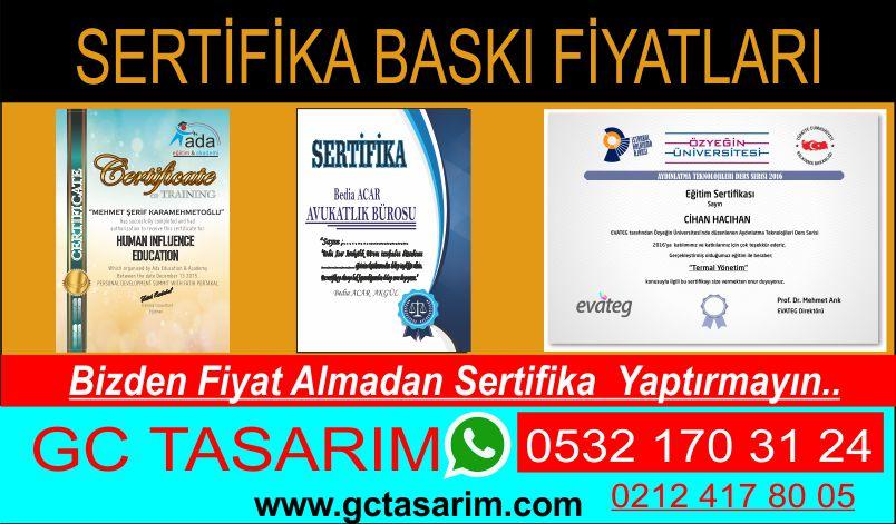 sertifika basımı
