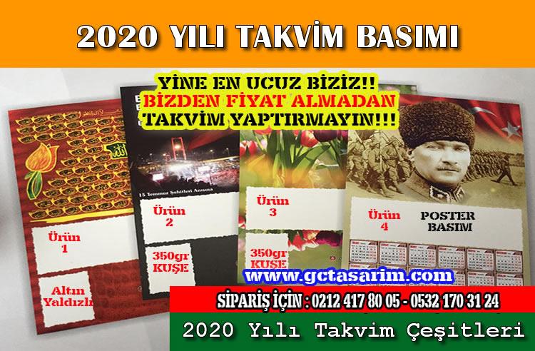 2020 takvim baskı